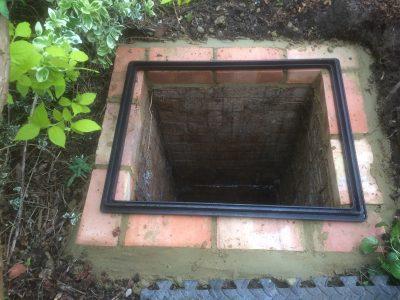 New Brickwork prior to Manhole Cover